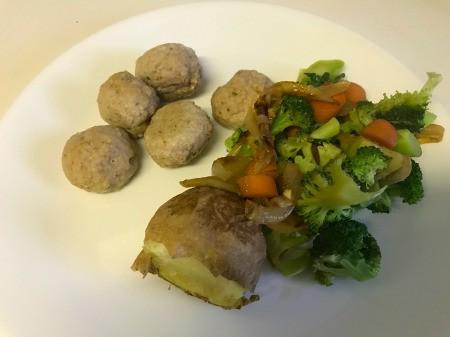 Vegetable Medley on dinner plate