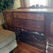 Value of an Antique Buffet - antique buffet made from multiple woods