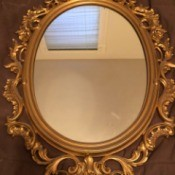 Value of a Bassett Wall Mirror - ornate gold painted frame wall mirror