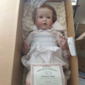 Value of an Ashton Drake Doll - baby doll in a box