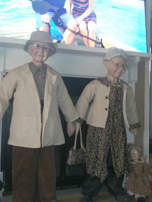 Value of Goldenvale Porcelain Dolls - elderly couple dolls