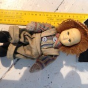 Identifying a French Doll - doll lying next to a ruler