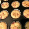 baked Strawberry Almond Muffins