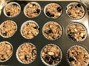 baked Blueberry and Almond Oat Muffins
