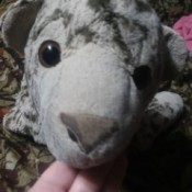 Identifying an Old Stuffed Animal - worn stuffy perhaps a leopard