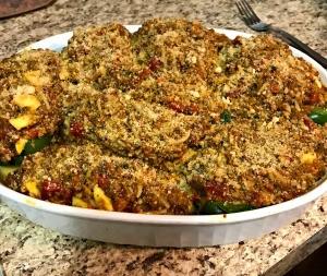 baked Stuffed Peppers and Stuffed Zucchini