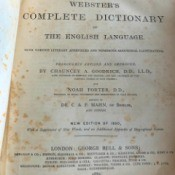 Value of a 1889 Webster's English Dictionary  - cover page