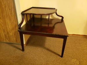 Value of a Mersman Corner Table - two tier corner table