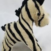 Identifying Stuffed Animals - zebra
