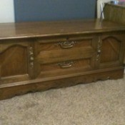 Value of a Lane Cedar Chest  - closed chest