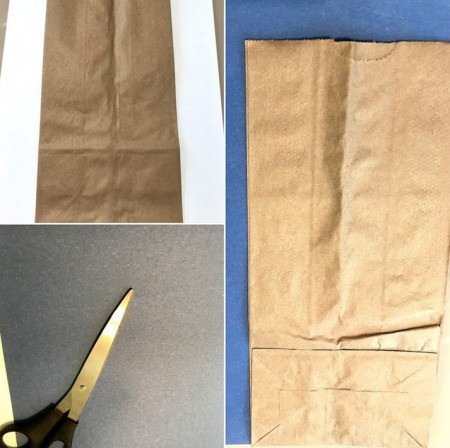 Feed the Monster Math Game - cut a piece of construction paper to cover one side of the bag