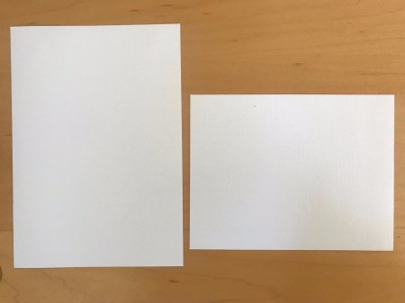 DIY Last Minute Wedding Invitation Cards - cut out cards using paper cutter/trimmer