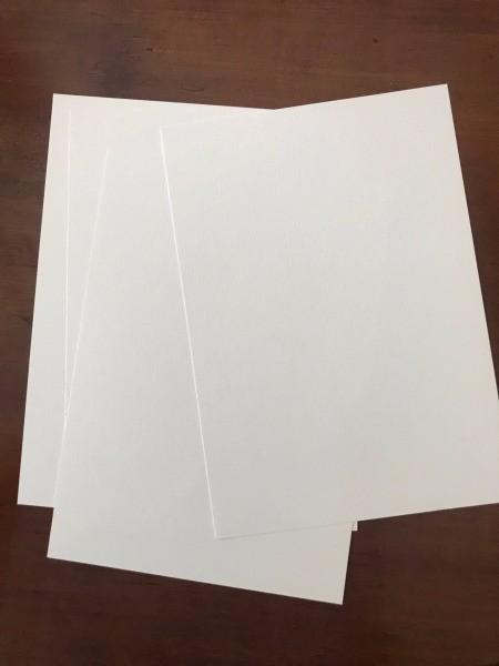 DIY Last Minute Wedding Invitation Cards - three blank cards