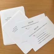 Wedding invitations that were printed at home.