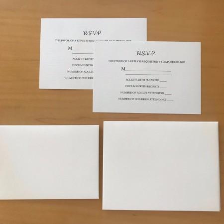 DIY Last Minute Wedding Invitation Cards - sample RSVP cards