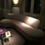 Value of a Vintage Sofa - sofa in a darkened room
