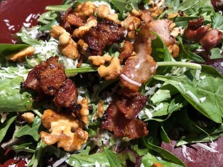 Bacon & Walnut added to spring mix
