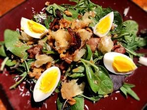 Grapefruit Bacon Walnut Salad on plate