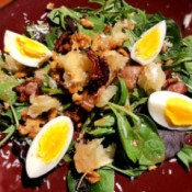 Grapefruit Bacon Walnut Salad on plate