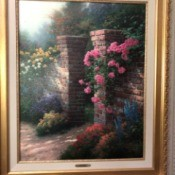 Value of Thomas Kinkade Print - A Rose Garden