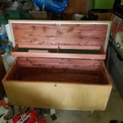 Value of a Lane Cedar Chest - open chest with light wood outside