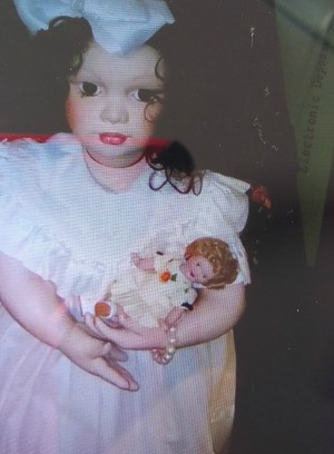 Identifying a Porcelain Doll - doll in box, holding a doll
