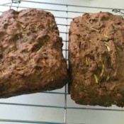 Zucchini Bread cooling on rack