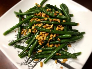 Pinenut Garlic Green Beans on plate