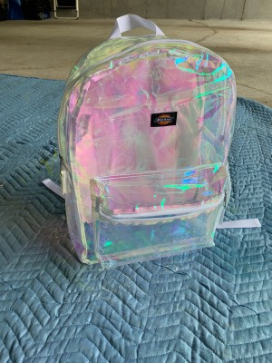 Painting a Clear PVC Backpack  - clear pack