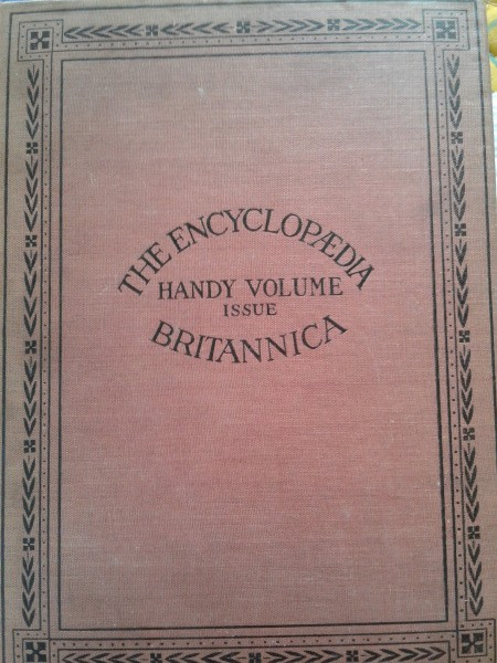 Value of 1911 Handy Volume Issue of Encyclopaedia Britannica - cover