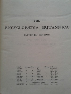 Value of 1911 Handy Volume Issue of Encyclopaedia Britannica