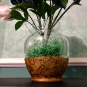 Masking Tape and Shoe Polish Vase - apply a coat of Mod Podge