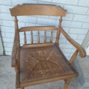 Identifying an Old Chair with a Rush Seat