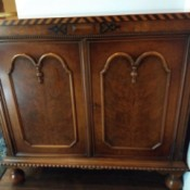 Identifying An Antique Server - two door cabinet with three drawers inside