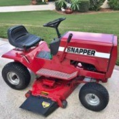 Value of a 1985 Snapper LT11 Mower - bright red vintage riding mower