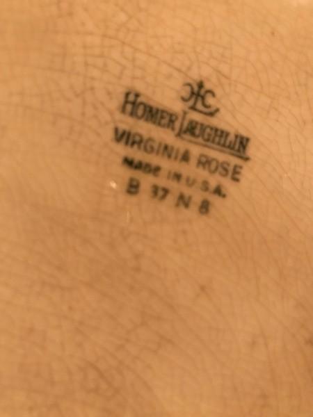 Information on a Homer Laughlin Platter - stamp on the bottom