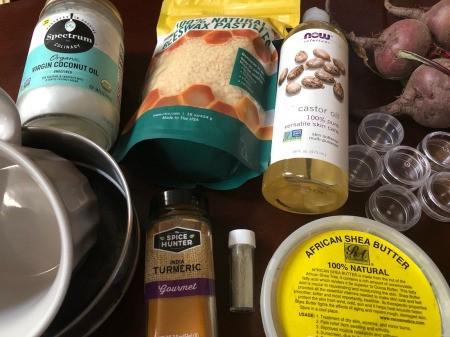 How to Make Natural Tinted Lip Balm - supplies