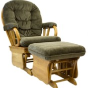 Glider chair with ottoman.