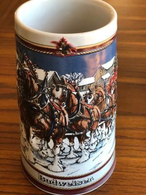Selling Budweiser Holiday Mugs - 1989 collectible mug