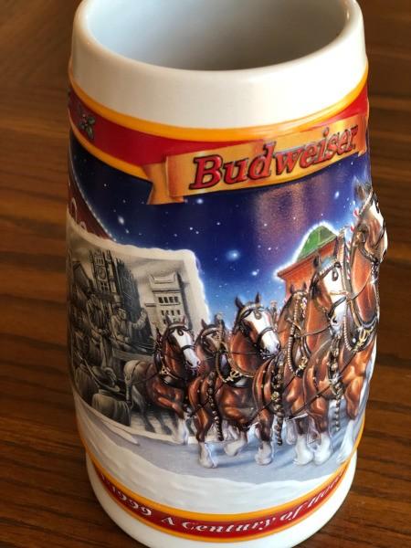Selling Budweiser Holiday Mugs