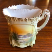 Selling a R & S Prussia Tea Cup - tea cup with built in bag draining area