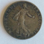 Value of a 1916 French 50 Centimes Coin