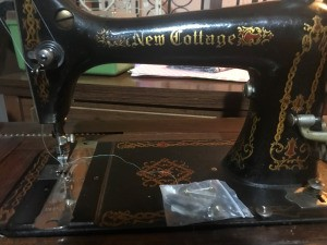 Maker of a New Cottage Treadle Sewing Machine - closeup of the machine