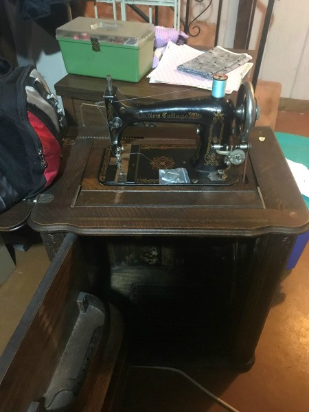 Maker of a New Cottage Treadle Sewing Machine