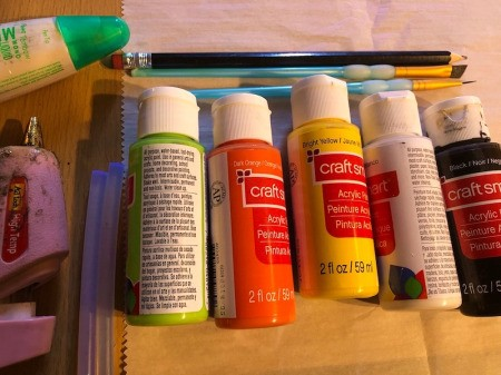 DIY Puffy Stickers from Hot Glue - supplies