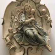 Identifying a Giuseppe Armani Plaque - virgin and child surrounded by angels