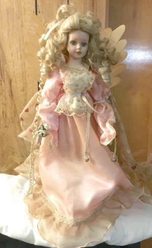 Cleaning Non-removable Doll Clothes - lighted angel doll in pink dress