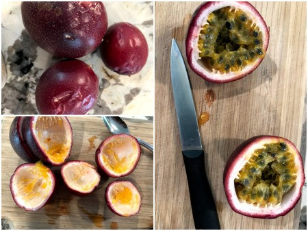 passionfruit cut