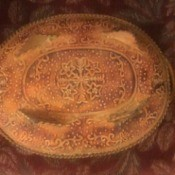 Value of a Hammered Metal Tray - tray with intricate pattern