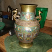 Value of a Japanese Champleve Cloisonné Vase - enameled metal vase